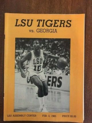 Lsu Basketball Game Program Vs.  Georgia 1985