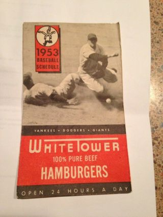 1953 Major League & International League Baseball Schedule