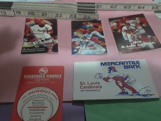 St.  Louis Cardinals Baseball Schedules1975,  2 - 77,  78,  79.
