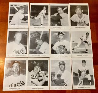 1960's Detroit Tigers Picture Pack 12 Star Players Kaline,  Colavito,  Bunning,  Cash