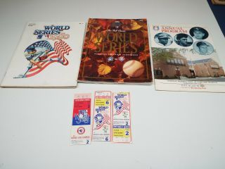 1980 World Series Program Tickets,  1979 Ticket,  1983 Program,  1985 Hall Of Fame
