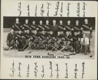 1945 - 46 York Rangers Team Photo Vintage Hockey Pic