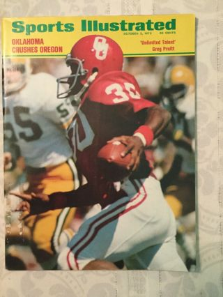 Sports Illustrated October 2,  1972: Greg Pruitt Oklahoma