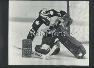 Jiri Crha Toronto Maple Leafs Vintage Nhl Hockey Press/wire Photo News