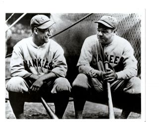 Babe Ruth Lou Gehrig York Yankees 8x10 Photo Baseball Hof Usa
