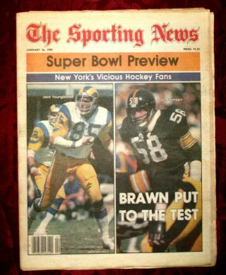 Sporting News Newspaper January 26 1980 Steelers Rams Lambert Bowl Issue