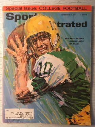 1963 George Mira Miami Hurricanes Sports Illustrated
