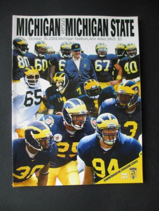2004 University Of Michigan Vs Michigan State Football Program
