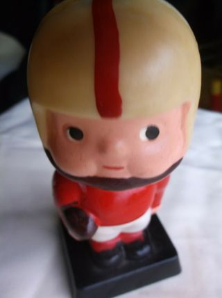Vintage Celluiod Bobblehead Football Player With Football,  Buckeye,  Hong Kong