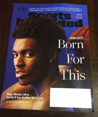 Sports Illustrated College Basketball Prev Issue 11/4 Emoni Bates - Born For This