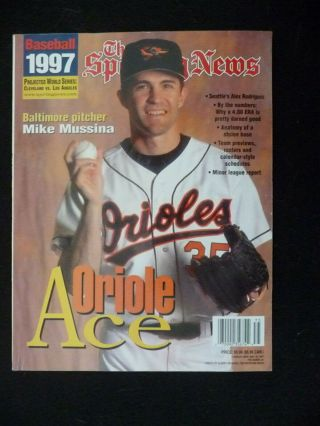 The Sporting News 1997 Baseball Preview Yearbook Mike Mussina