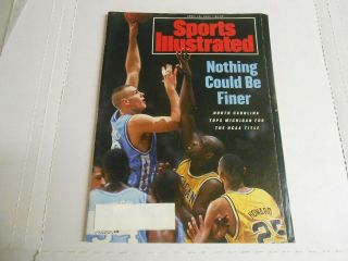 Sports Illustrated Apr 12,  1993 Unc Tar Heels National Championship Basketball