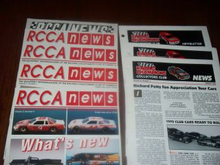 Rcca News Set Of Five Plus Racing Champions Collectors Club News
