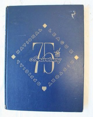 1951 National League 75th Anniversary Official History Book Baseball Dodgers