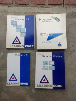 Microsoft Manuals For Leading Edge Pc 386/33 Pc,  Ms - Dos 5.  0,  Windows 3.  1,