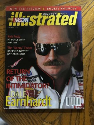 Nascar Illustrated March 1999.  Dale Earnhardt Sr On Cover.