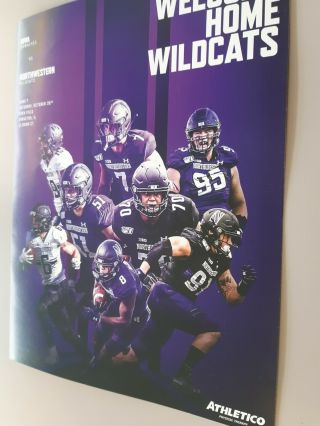Northwestern Wildcats Vs Iowa Hawkeyes Game Program October 26 @ Evanston