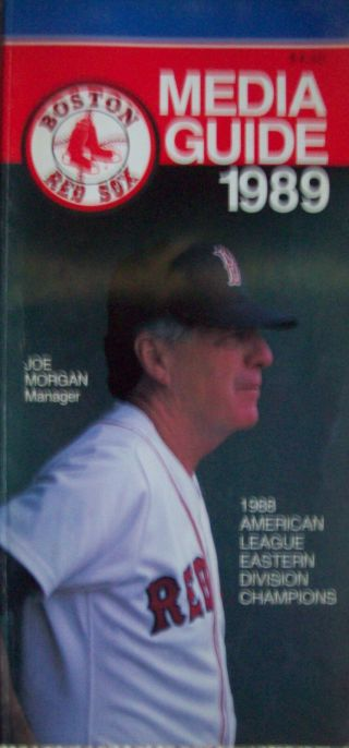 1989 Boston Red Sox Media Guide