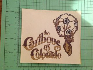 Nasl Transfer On Twill Patch: Colorado Caribous