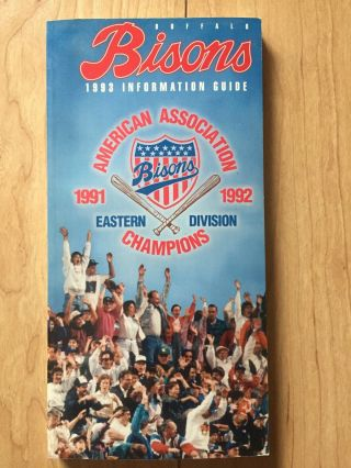 1993 Buffalo Bisons Information Guide American Association Near