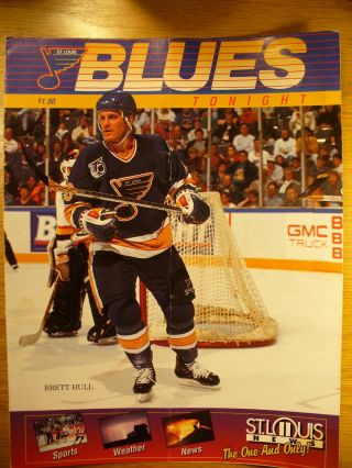 Nhl St Louis Blues 03/13/93 Blues Tonight Game Day Vs Minn.  North Stars Program