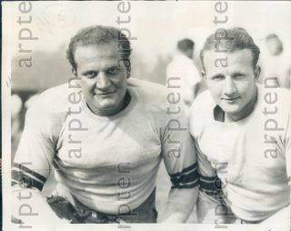 1929 Stanford Indians Herbert Fleishhacker & Lud Frentrup Press Photo