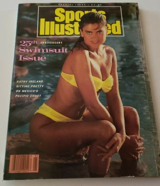 1989 Kathy Ireland Sports Illustrated 25th Anniversary Swimsuit Issue No Label