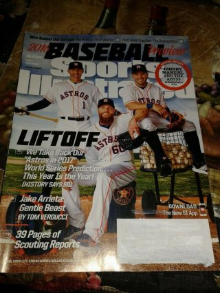 2016 Sports Illustrated - Houston Astros Carlos Correa Jose Altuve Keuchel