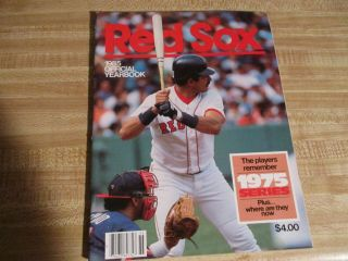 1985 Red Sox Official Yearbook