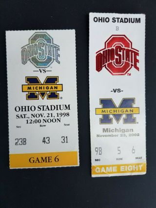 Ohio State Tickets Vs.  Michigan 2002 Undefeated Year And Vs.  Tom Brady 1998