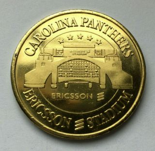 1996 Carolina Panthers Ericsson Stadium Inaugural Game Coin