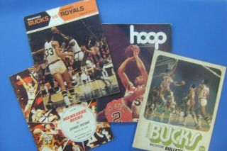 3 - - Bucks Vs Pistons 1970 Vs Royals,  1971 Vs Bullets 1972,  Nba / Hoop 1974