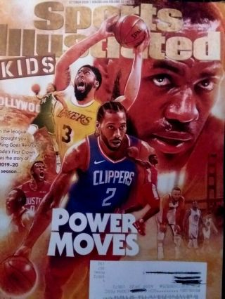 Sports Illustrated For Kids October 2019 Lebron James Kawhi Leonard W/ Label