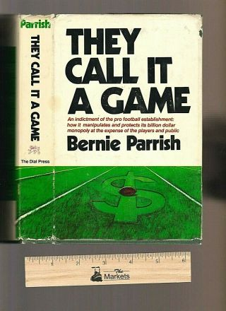 Vintage 1971 First Edition They Call It A Game,  Bernie Parrish,  Hardcover,  Dj