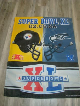 Superbowl Xl Banner 02 - 05 - 06 Steelers And Seahawks