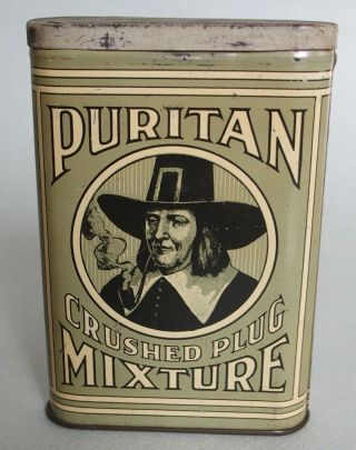 Very Rare Purtian Vp Advertising Tobacco Tin Continental Tobacco Co.  Near