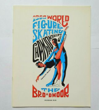 1969 World Figure Skating Championship At The Broadmoor Program