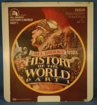 Rca Ced Videodisc - History Of The World,  Part 1 With Mel Brooks