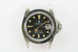 """Rolex Submariner 1680 """"red Sub"""" Vintage Automatic Project Watch Circa 1970s"""
