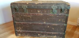 Vintage Louis Vuitton Steamer Trunk Large - Circa 1889