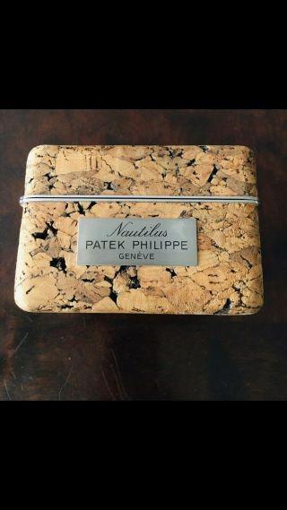 Patek Philippe Very Rare Vintage Cork Watch Box For Patek Philippe Nautilus 3700