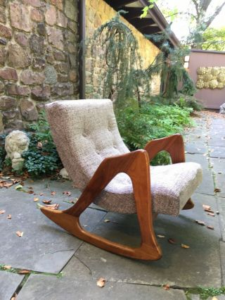 Adrian Pearsall Craft Associates Lounge Rocking Chair Mid Century 812 - Cr Eames