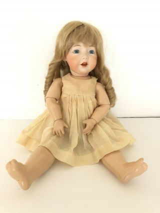 "Vintage Jdk 14 Kestner Bisque Head 17"" Doll.  Fully Jointed,  237?"