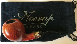 Neerup Classic Blowfish Briar Pipe: Estate Item Unsmoked With Pouch
