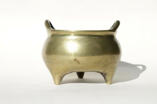 Antique Chinese 19th Century Bronze Censer Incense Burner with Xuande Mark 3