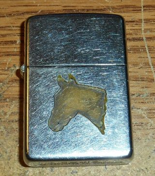 Late 1940s/early 1950s Zippo Town And Country Horse Head Full Size Lighter/rare