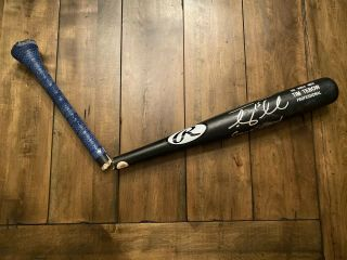 Tim Tebow Game Cracked Signed Rawlings Bat York Mets Tebow