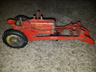 Vintage Tru Scale Tractor - Farm Toy With Front Loader 1950s