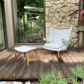 Authentic Hans Wegner Papa Bear Lounge Chair Only (stool Listed In Other Listing