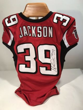 2013 Game Issued/worn Nike Atlanta Falcons Stephen Jackson Autographed Jersey
